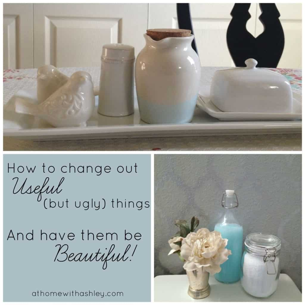 How to change out useful but ugly things and have them be beautiful! athomewithashley