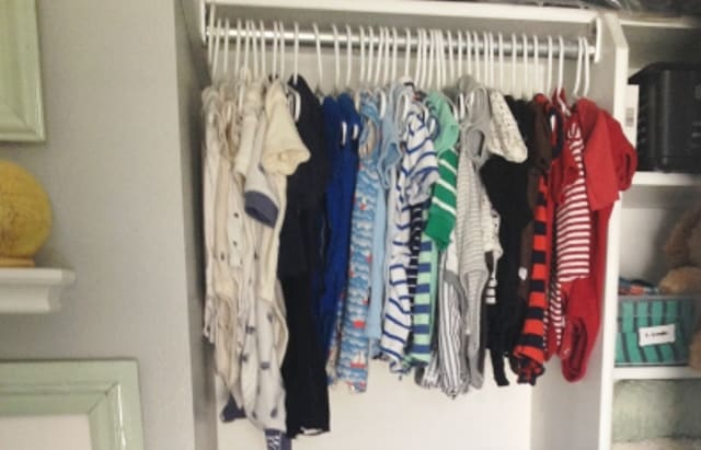 The Best Way to Organize your Baby's Closet