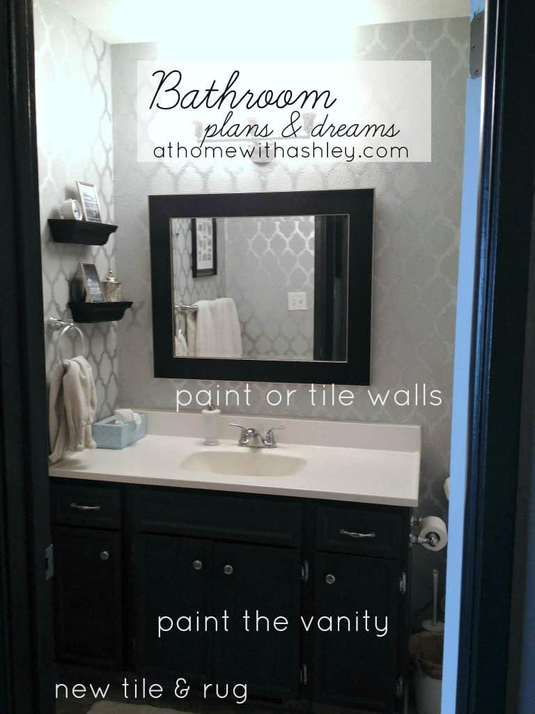 bathroom plans and dreams