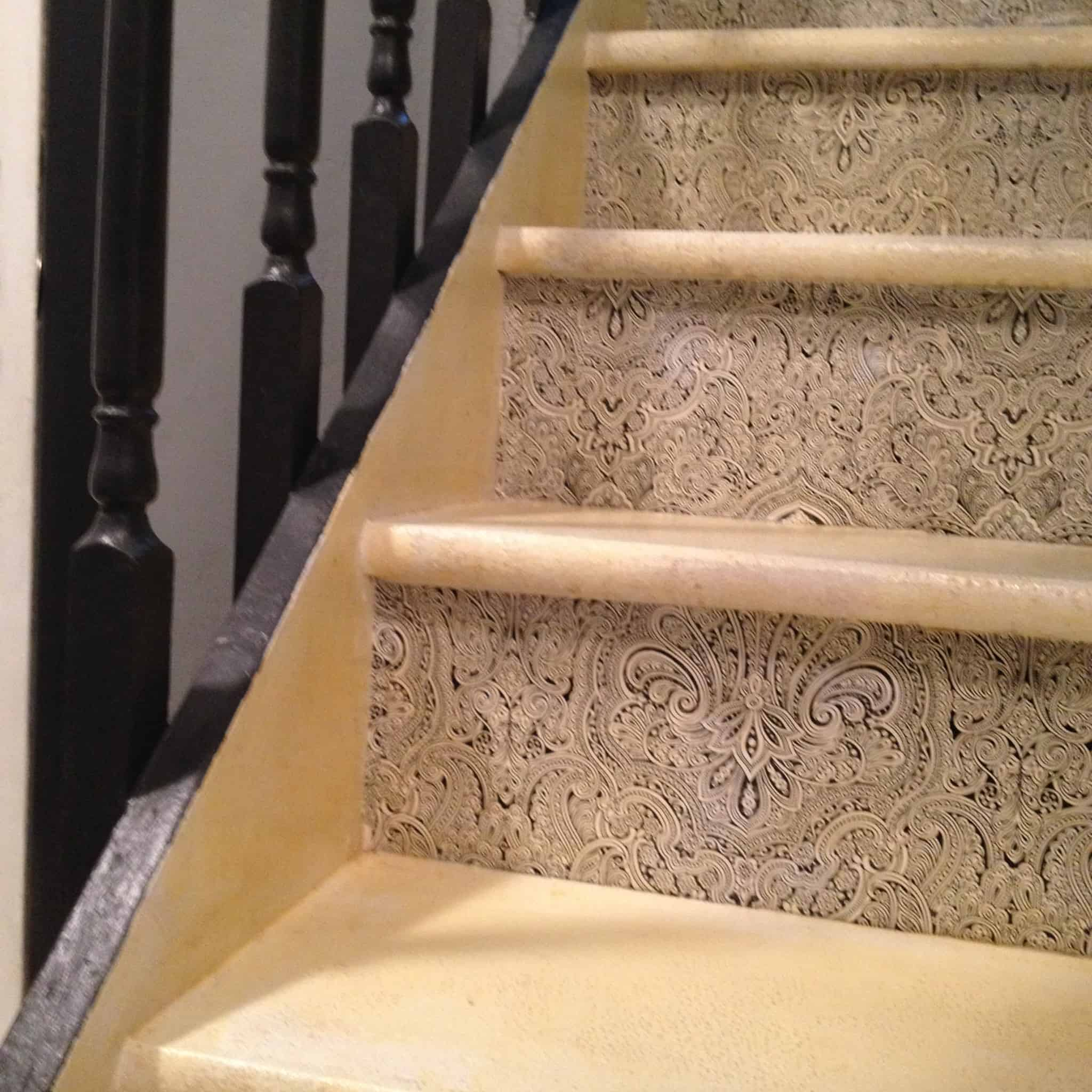 How To Redo Wooden Stair Treads For Cheap. This DIY Shows You Painted  Risers,