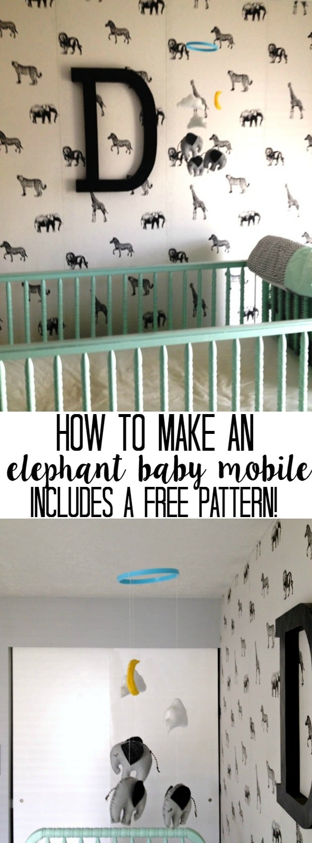how to make an elephant baby mobile, diy easy fun infant hanging mobile
