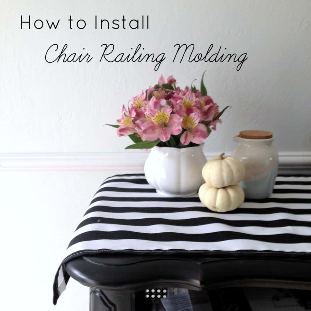 How to Install Chair railing molding athomewithashley