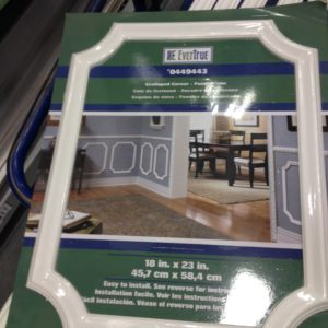 pre cut picture molding from Lowes