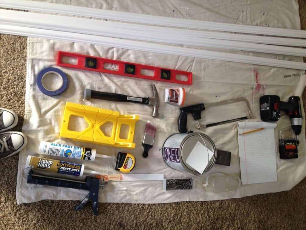 tools for installing chair molding