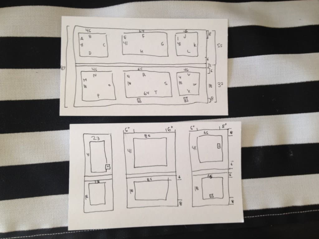planning for picture molding athomewithashley