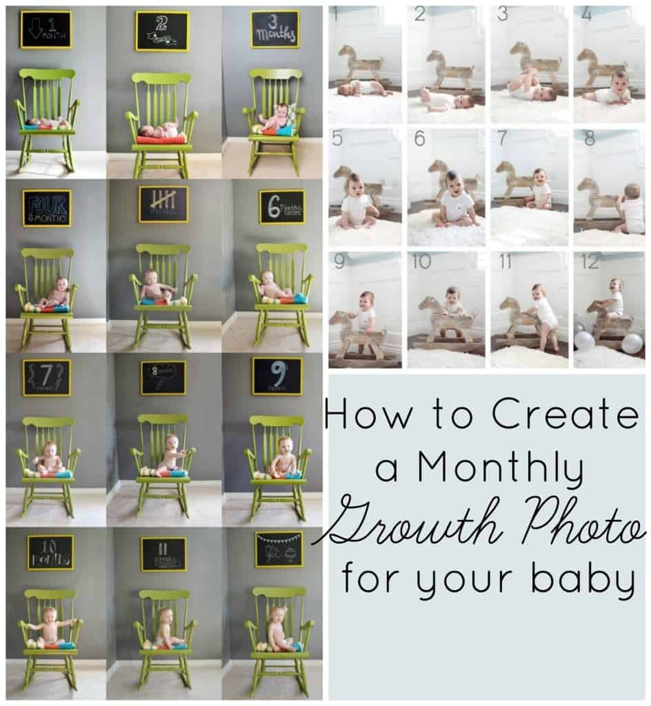 how to create a monthly growth photo for your baby