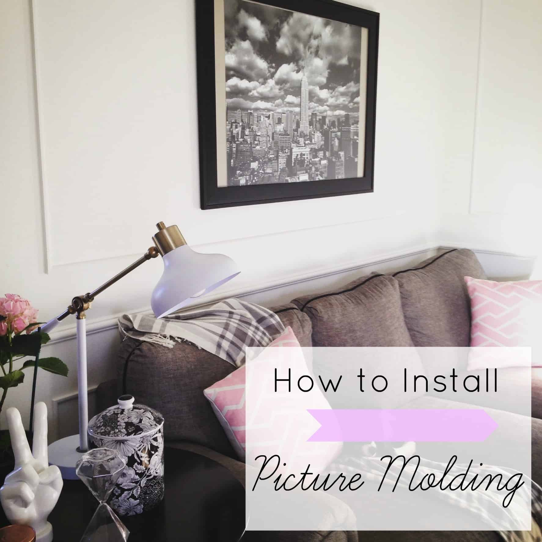 How to Install Picture Molding- Part 2