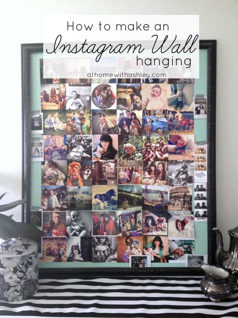 how to make an instagram wall hanging athomewithashley