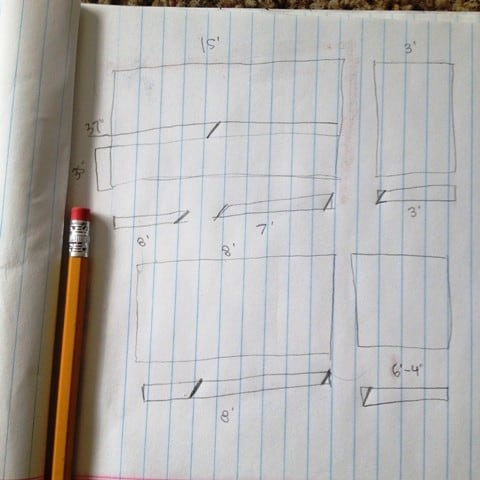 planning for installing chair molding- draw a diagram