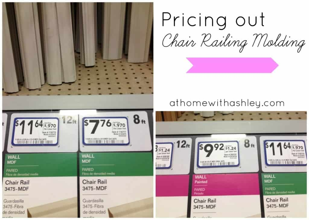 pricing our chair railing molding