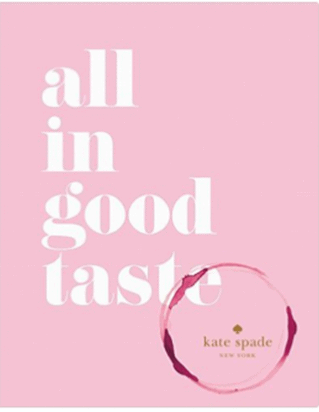 All in good taste kate spade pink books