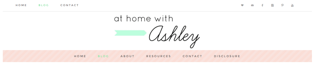 New blog header athomewithashley