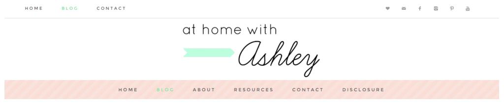 New blog header athomewithashley