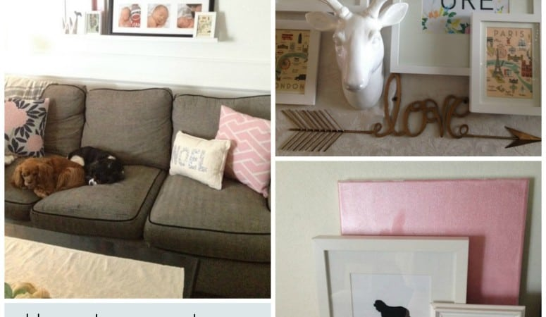 How to Create a Ledge Gallery Wall