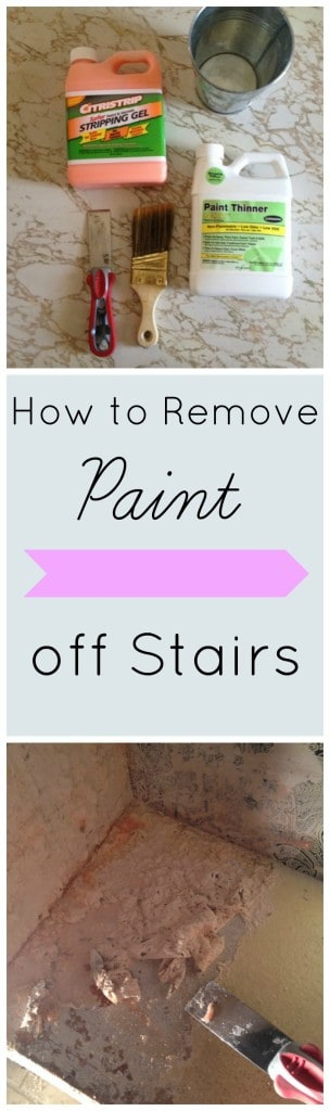 How to Remove paint off stairs athomewithashley