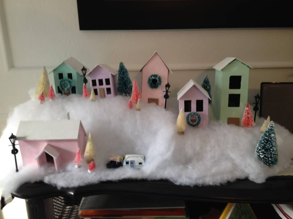 how to make a Christmas village on a budget