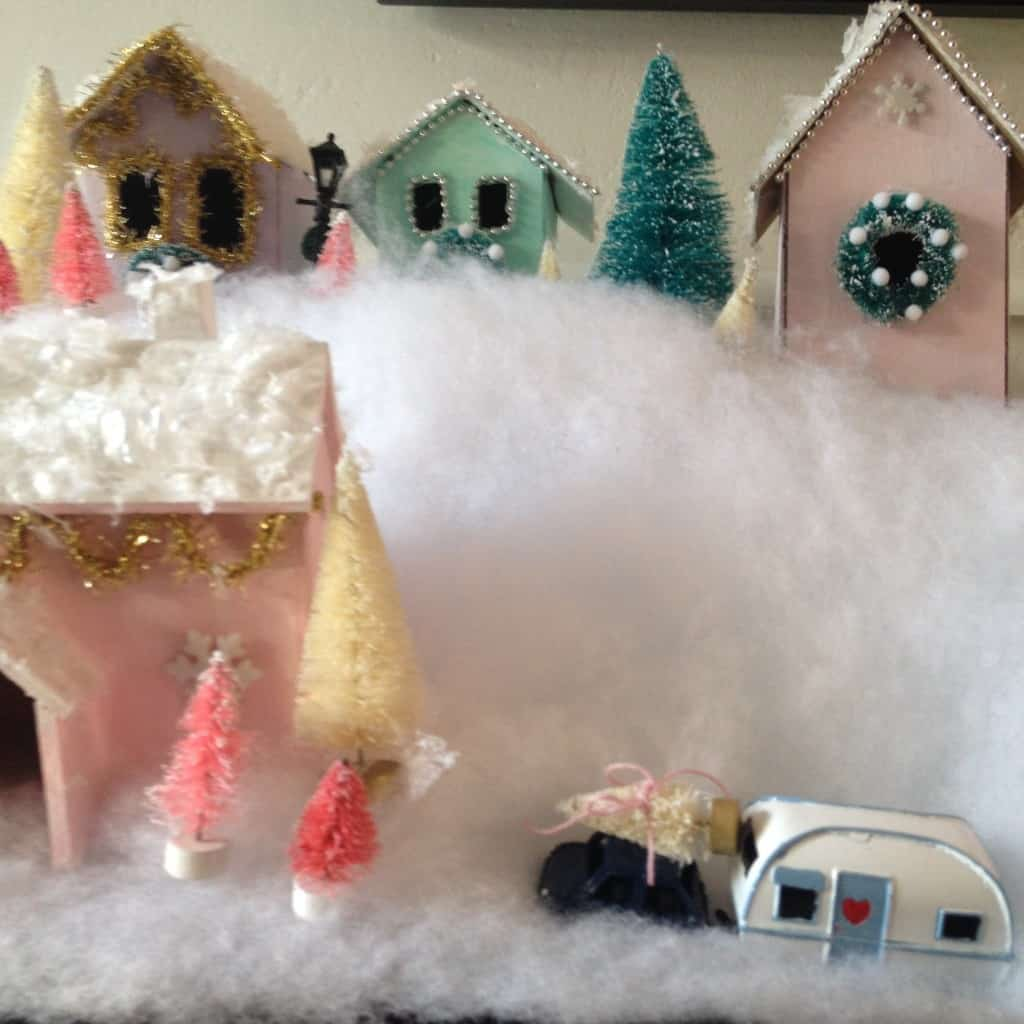 how to create a Christmas village on a budget
