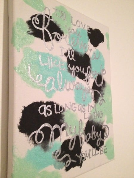 creating art for your home with your baby 8 9 10 months finished piece