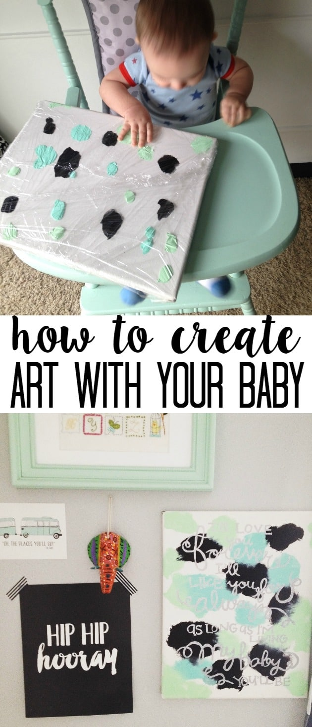how to create art with your baby- easy, mess free and cute