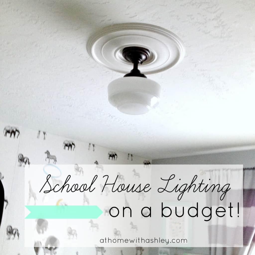 schoolhouse lighting on a budget athomewithashley