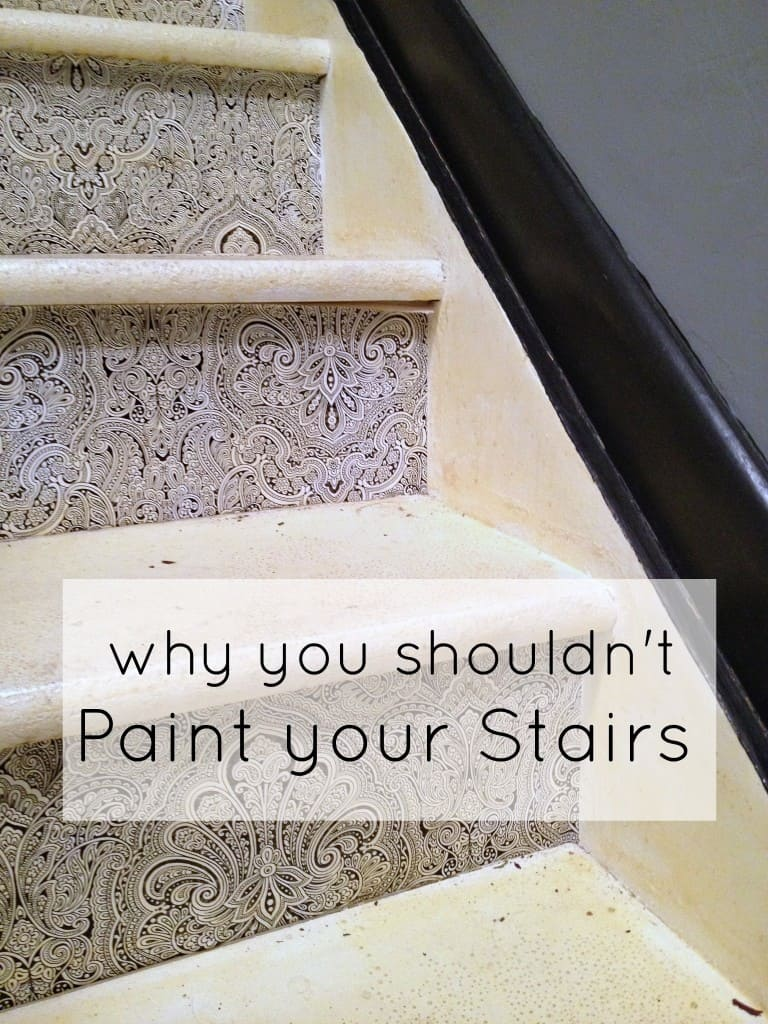 why you shouldn't paint your stairs athomewithashley