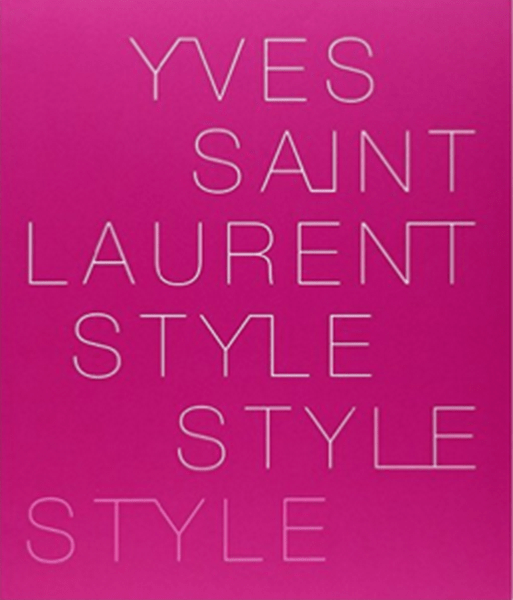 yves saint laurent style pink books