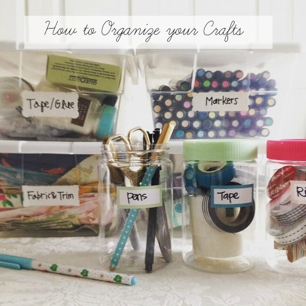 How to organize your crafts and wrapping paper so they stay organized