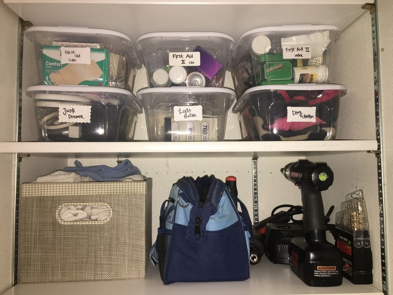 How to organize your (deep) linen closet, cleaning supplies, and games (1)