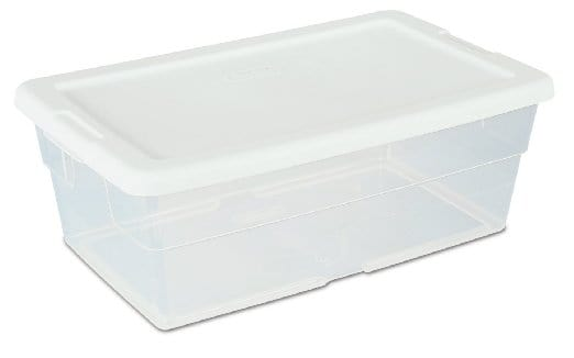 plastic bin for organizing