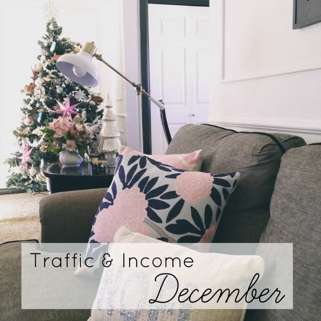traffic and income december athomewithashley
