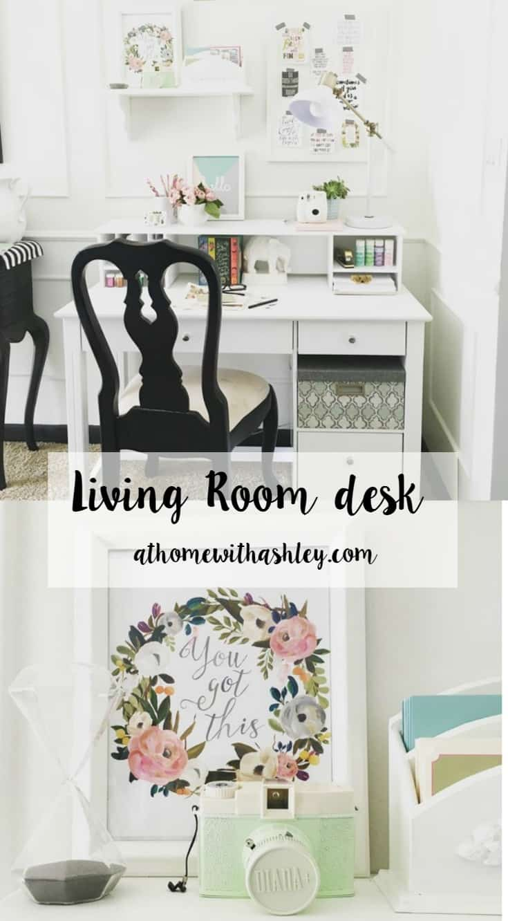 A Desk For Your Living Room Pretty And Functional Athomewithashley