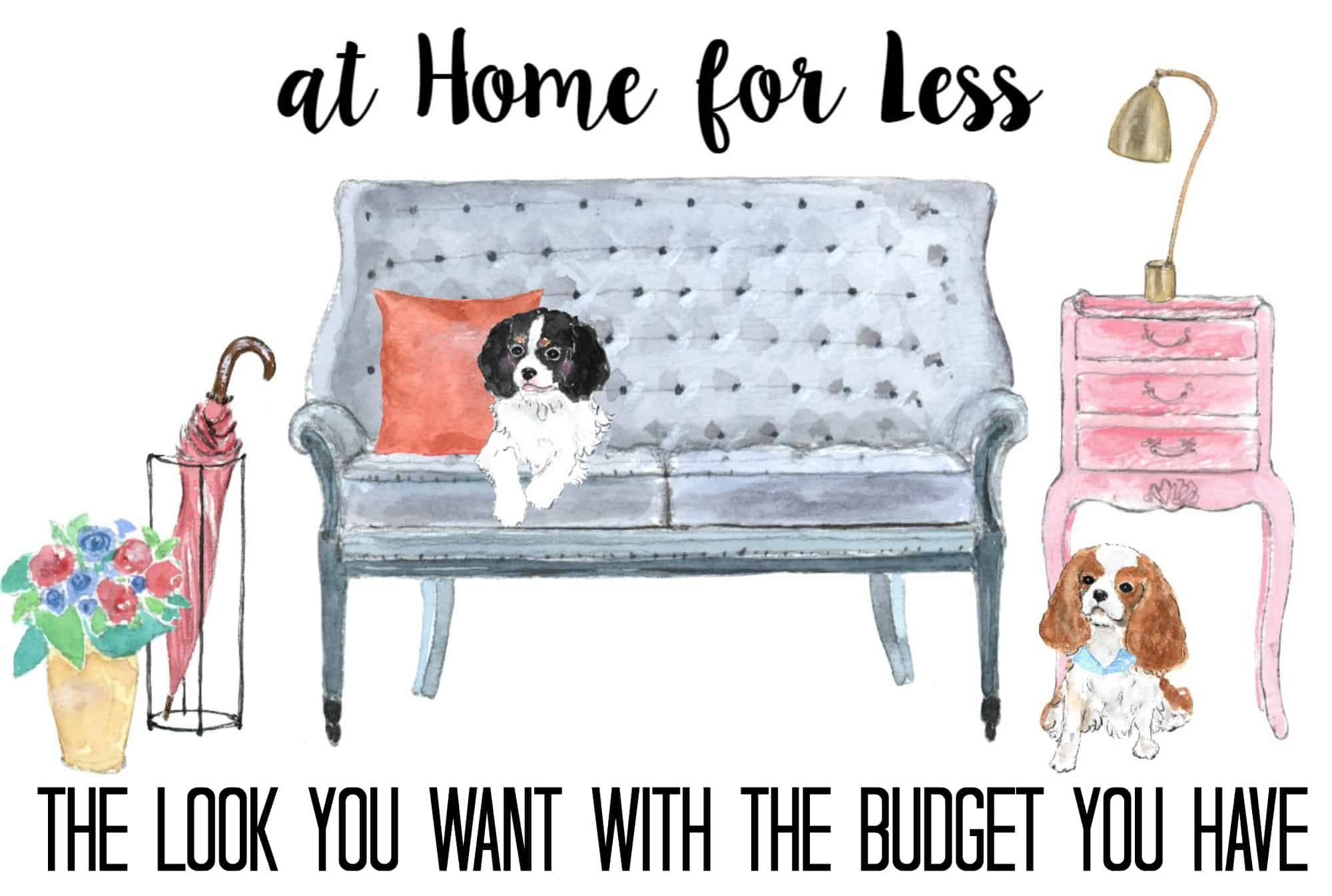 At Home for Less back cover- the look you want with the budget you have