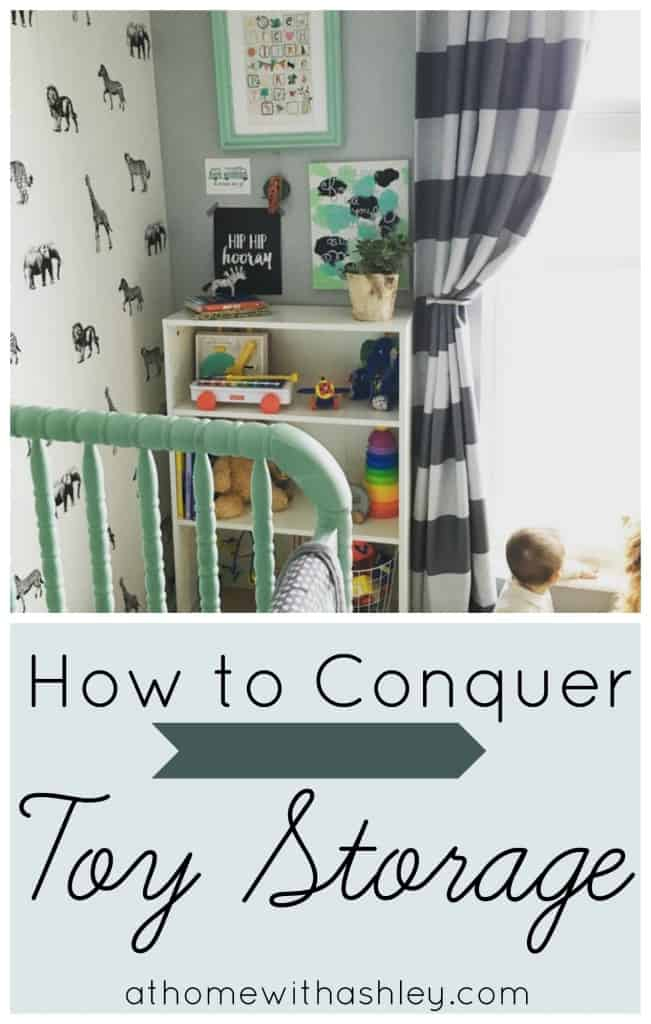 How to Conquer Toy Storage athomewithashley