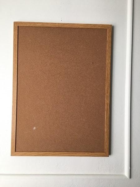 Thrift store Bulletin Board makeover (3)
