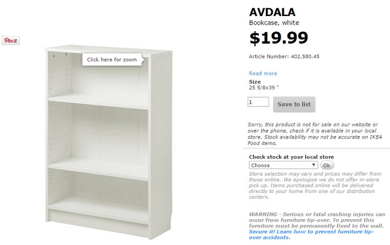 avdala bookcase white ikea