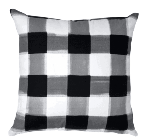 black burnside buffalo check caitlin wilson pillow