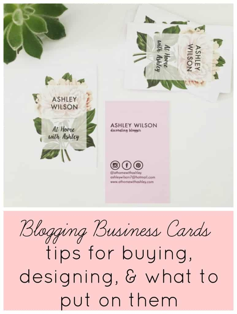 blogging business cards- tips for buying, designing, & what to put on them