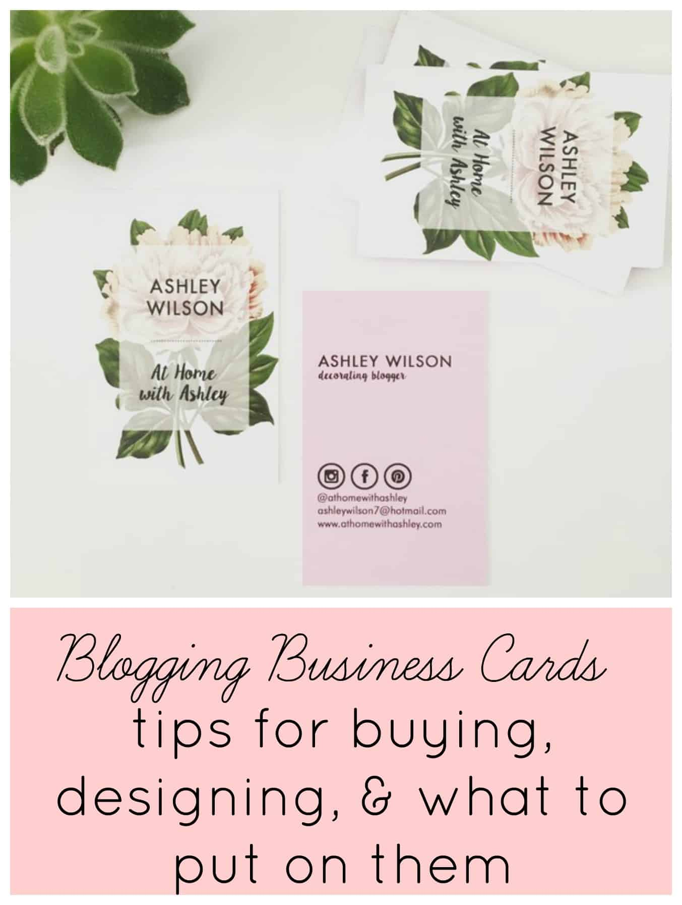 blogging business cards- tips for buying, designing, & what to put ...