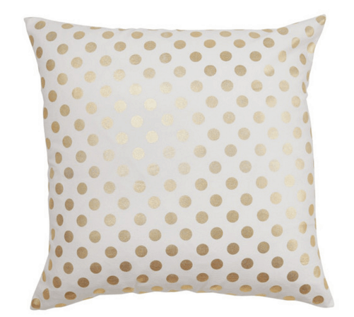 caitlin wilson gold dot pillow