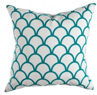 caitlin wilson pillow scalloped in blue