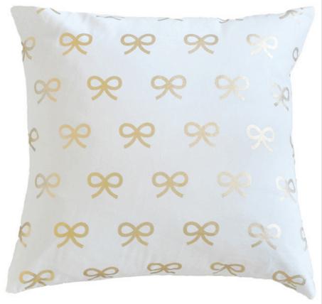 gold bows pillow caitlin wilson