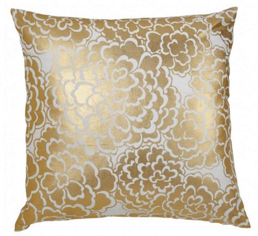gold fleur pillow caitlin wilson