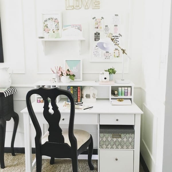 Desk In The Living Room: How To Style A Desk With Examples