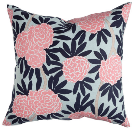 navy fleur chinoise pillow caitlin wilson athomewithashley