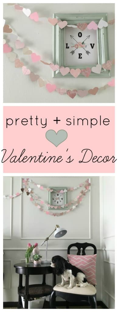 pretty and simple Valentine's Decor