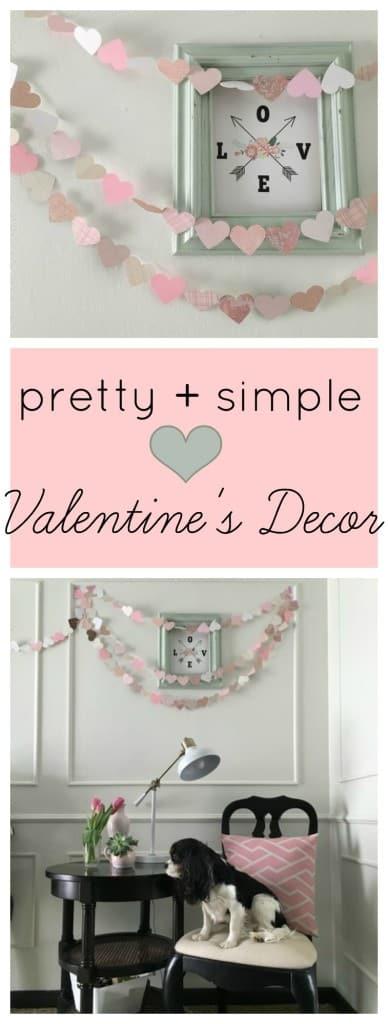 pretty and simple Valentine's Decor