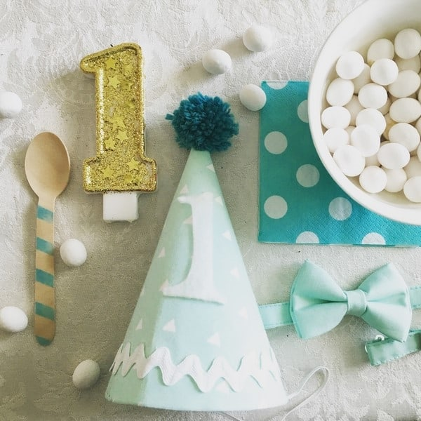 football and mint and gold birthday party for a one year old (2)
