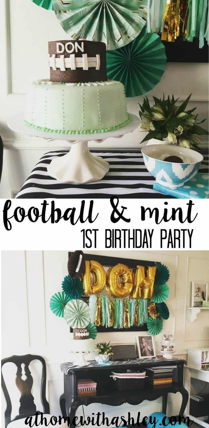 football and mint first birthday party