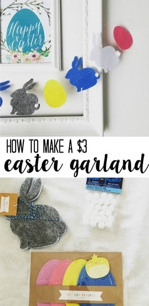 how to make a $3 Easter Garland in 5 minutes