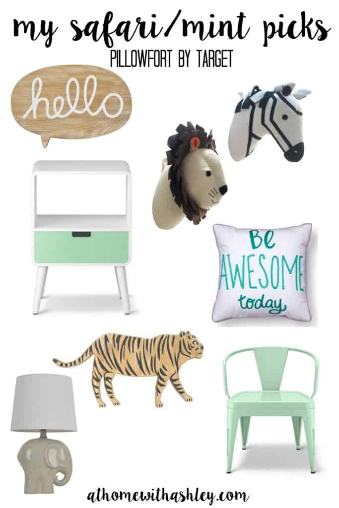 pillowfort target safari mint kid room sale affordable budget decor for kids